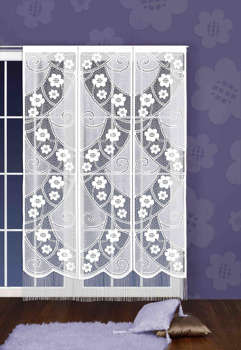 Гардина-панно Rozetka, на кулиске, цвет: белый, высота 250 смS03301004Воздушная гардина-панно Rozetka, изготовленная из полиэстера белого цвета, станет великолепным украшением любого окна. Тонкое плетение и оригинальный кружевной рисунок привлечет к себе внимание и органично впишется в интерьер. Нижняя часть оформлена бахромой. Гардина оснащена кулиской для крепления на круглый карниз. Характеристики:Материал: 100% полиэстер. Цвет: белый. Высота кулиски: 7 см. Размер упаковки:25 см х 37 см х 3 см. Артикул: 709786. В комплект входит: Гардина-панно - 1 шт. Размер (ШхВ): 150 см х 250 см. Фирма Wisan на польском рынке существует уже более пятидесяти лет и является одной из лучших польских фабрик по производству штор и тканей. Ассортимент фирмы представлен готовыми комплектами штор для гостиной, детской, кухни, а также текстилем для кухни (скатерти, салфетки, дорожки, кухонные занавески). Модельный ряд отличает оригинальный дизайн, высокое качество. Ассортимент продукции постоянно пополняется.