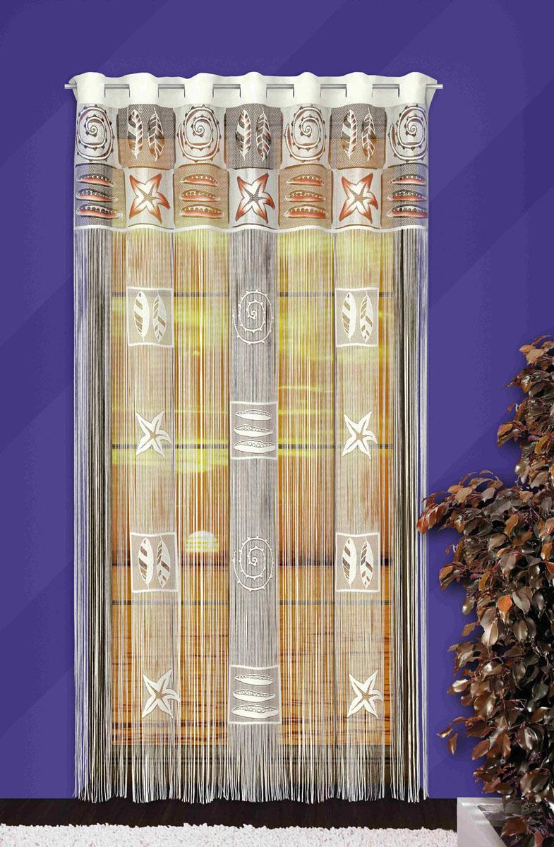Гардина-лапша Afrodyta, на петлях, цвет: белый, высота 250 смSVC-300Гардина-лапша Afrodyta, изготовленная из полиэстера белого цвета, станет великолепным украшением любого окна. Гардина-лапша отличается от других видов гардин тем, что имеет основание, на которое крепится бахрома. Это отличное решение как для гардины на окно, так и для портьеры в дверной проем или просто занавески для разграничения пространства в комнате. Гардина-лапша оснащена петлями для крепления на круглый карниз. Характеристики:Материал: 100% полиэстер. Цвет: белый. Высота петли: 5 см. Размер упаковки:26 см х 2 см х 36 см. Артикул: 710744.В комплект входит:Гардина-лапша - 1 шт. Размер (ШхВ): 150 см х 250 см. Фирма Wisan на польском рынке существует уже более пятидесяти лет и является одной из лучших польских фабрик по производству штор и тканей. Ассортимент фирмы представлен готовыми комплектами штор для гостиной, детской, кухни, а также текстилем для кухни (скатерти, салфетки, дорожки, кухонные занавески). Модельный ряд отличает оригинальный дизайн, высокое качество. Ассортимент продукции постоянно пополняется.
