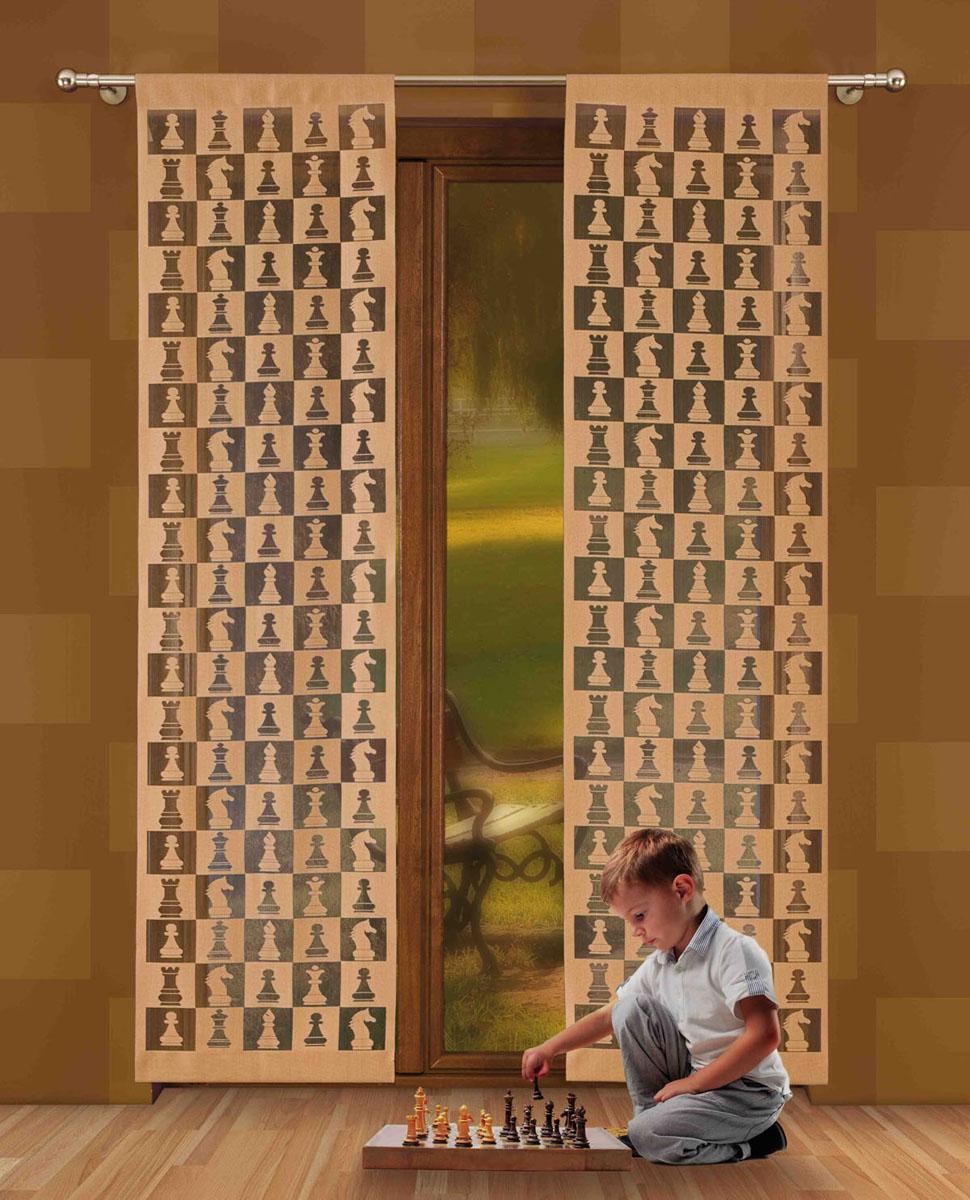 Гардина-панно Szachy, на кулиске, цвет: кофейный, высота 230 см724802Гардина-панно Szachy, изготовленная из полиэстера кофейного, станет великолепным украшением любого окна. Оригинальный принт в виде шахматных фигур и приятная цветовая гамма привлекут к себе внимание и органично впишутся в интерьер комнаты. Верхняя часть гардины-панно оснащена кулиской для крепления на круглый карниз. Характеристики:Материал: 100% полиэстер. Размер упаковки:27 см х 34 см х 2 см. Артикул: 724802.В комплект входит:Гардина-панно - 1 шт. Размер (Ш х В): 50 см х 230 см. Фирма Wisan на польском рынке существует уже более пятидесяти лет и является одной из лучших польских фабрик по производству штор и тканей. Ассортимент фирмы представлен готовыми комплектами штор для гостиной, детской, кухни, а также текстилем для кухни (скатерти, салфетки, дорожки, кухонные занавески). Модельный ряд отличает оригинальный дизайн, высокое качество. Ассортимент продукции постоянно пополняется.