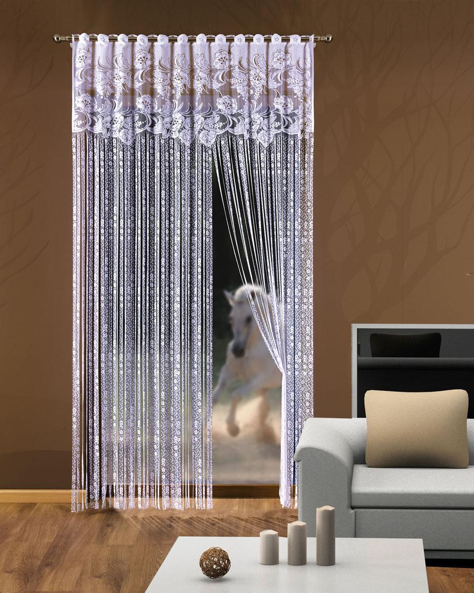 Гардина-лапша Halszka, на петлях, цвет: белый, высота 250 смK100Гардина-лапша Halszka, изготовленная из полиэстера белого цвета, станет великолепным украшением окна, дверного проема и прекрасно послужит для разграничения пространства. Гардина оформлена мелкой бахромой, а в верхней части - кружевом. Необычный дизайн и яркое оформление привлекут внимание и органично впишутся в интерьер. Гардина-лапша оснащена петлями для крепления на круглый карниз. Характеристики:Материал: 100% полиэстер. Цвет: белый. Длина петли: 4 см. Размер упаковки:26 см х 37 см х 3 см. Артикул: 728534.В комплект входит: Гардина-лапша - 1 шт. Размер (ШхВ): 150 см х 250 см. Фирма Wisan на польском рынке существует уже более пятидесяти лет и является одной из лучших польских фабрик по производству штор и тканей. Ассортимент фирмы представлен готовыми комплектами штор для гостиной, детской, кухни, а также текстилем для кухни (скатерти, салфетки, дорожки, кухонные занавески). Модельный ряд отличает оригинальный дизайн, высокое качество. Ассортимент продукции постоянно пополняется.