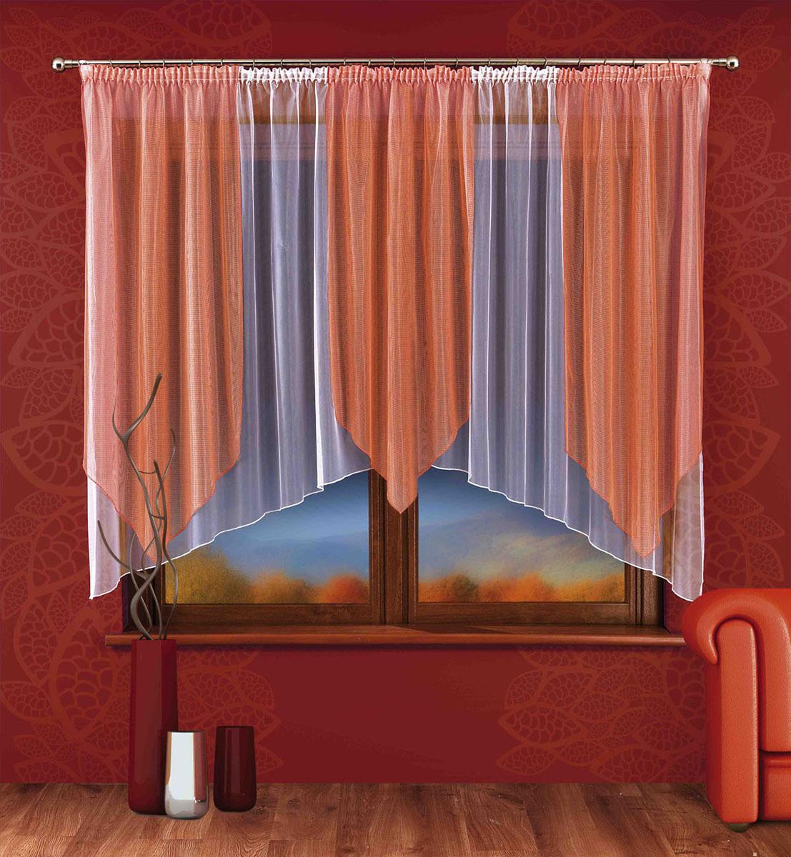 Гардина Pamela, на ленте, цвет: белый, оранжевый, высота 170 смS03301004Легкая гардина Pamela, изготовленная из полиэстера белого и оранжевого цветов, станет великолепным украшением любого окна. Тонкое плетение, оригинальный принт, приятная цветовая гамма привлекут к себе внимание и органично впишутся в интерьер комнаты. В гардину вшита шторная лента для собирания в сборки. Характеристики:Материал: 100% полиэстер. Цвет: белый, оранжевый. Размер упаковки:25 см х 33 см х 6 см. Артикул: 745692.В комплект входит: Гардина - 1 шт. Размер (ШхВ): 250 см х 170 см. Фирма Wisan на польском рынке существует уже более пятидесяти лет и является одной из лучших польских фабрик по производству штор и тканей. Ассортимент фирмы представлен готовыми комплектами штор для гостиной, детской, кухни, а также текстилем для кухни (скатерти, салфетки, дорожки, кухонные занавески). Модельный ряд отличает оригинальный дизайн, высокое качество.Ассортимент продукции постоянно пополняется.УВАЖАЕМЫЕ КЛИЕНТЫ!Обращаем ваше внимание на цвет изделия. Цветовой вариант комплекта, данного в интерьере, служит для визуального восприятия товара. Цветовая гамма данного комплекта представлена на отдельном изображении фрагментом ткани.