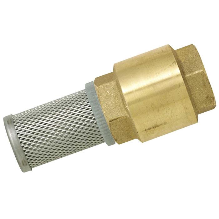 Клапан с фильтром Boutte, неразъемный, 1А00319Обратный клапан Boutte предназначен для того, чтобы перекачиваемая жидкость не стекала из насоса и всасывающей магистрали обратно под действием силы тяжести после прекращения работы насоса, либо для того, чтобы жидкость двигалась только в заданном направлении. То есть для предотвращения обратного тока жидкости. Применение обратного клапана позволяет насосу сразу же по включении в работу перекачивать жидкость, а не воздух из опустевшей за время простоя насоса всасывающей магистрали.
