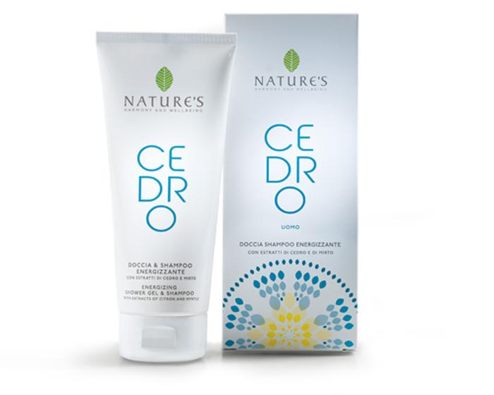 Natures Шампунь и гель для душа 2 в 1 Cedro, для мужчин, 200 мл4751006750913Шампунь-гель для душа Natures Cedro идеально подходит для ежедневного использования и после занятий спортом. Мягко очищает и дезодорирует, оставляя кожу свежей, гладкой и увлажненной, а волосы сильными и блестящими. Растительные поверхностно активные вещества обеспечивают оптимальный кислотно-щелочной баланс кожи. Цитрон и мирта, богатые витаминами, минералами и олегоэлементами, интенсивно увлажняют и тонизируют кожу, наполняют энергией, надолго обеспечивают ощущение свежести. Утром пробуждает и стимулирует к действию, дарит ощущение комфорта и успеха. Вечером успокаивает, снимает напряжение, избавляя от чувства тревоги. Характеристики:Объем: 200 мл. Производитель: Италия. Артикул:60270706. Товар сертифицирован.