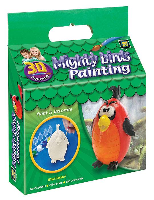"""В вашем доме растет маленький художник? Тогда ему стоит подарить набор для раскрашивания Amav """"Разрисуй попугая 3D"""". Входящие в набор краски позволят превратить обычную гипсовую фигурку в яркую игрушку. Благодаря набору ваш ребенок научится пространственно мыслить, различать цвета, творчески решать поставленные задачи. В набор входят: гипсовая фигурка попугая, шесть красок и кисточка."""