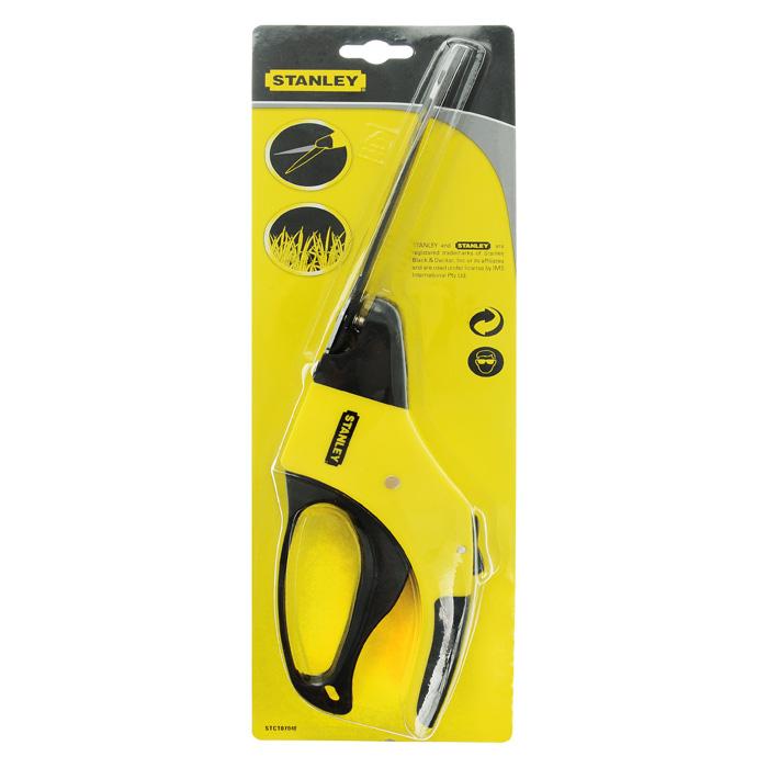 Ножницы газонные Stanley, цвет: черный, желтый, 15 смRSP-202SНожницы газонные Stanley предназначены для стрижки и выравнивания газона. Лезвия из карбоновой стали с покрытием, предотвращающим налипание. Также они могут поворачиваться до 360 градусов. Рукоятки выполнены из пластика, а резиновые вставки не позволят инструменту скользить в руке. Характеристики: Материал: сталь, пластик, резина. Размеры ножниц: 35 см х 8,5 см х 3,5 см. Размер упаковки: 39 см x 12 см x 4 см.