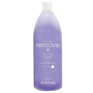 Zoya Жидкость для снятия лака для ногтей 3-в-1 Remove+, 960 мл80284338Формула-прорыв, обеспечивающая всестороннее воздействие, и дающая эффект как от использования нескольких различных продуктов. Увлажняет, питает и укрепляет ногтевую пластину. Действует одновременно как очищающее, и как подготовительное средство, устраняет следы жира, лака и пятен, препятствующих совершенному нанесению лака. Помогает повысить стойкость лака. Применение: намочите салфетку средством и массирующими движениями нанесите на ноготь, чтобы размягчить лак. Вытрите насухо. Повторите перед нанесением базового покрытия для достижения безупречного результата!Remove+ действует в качестве подготовительного средства на начальной стадии в процессе маникюра, очищающее средство удаляет лишние частицы, масла и остатки применявшихся ранее продуктов с поверхности ногтевой пластины. Средство для снятия лака удаляет лак, одновременно увлажняя ногти. Характеристики:Объем: 960 мл. Артикул: ZTRM03. Производитель: США. Товар сертифицирован.