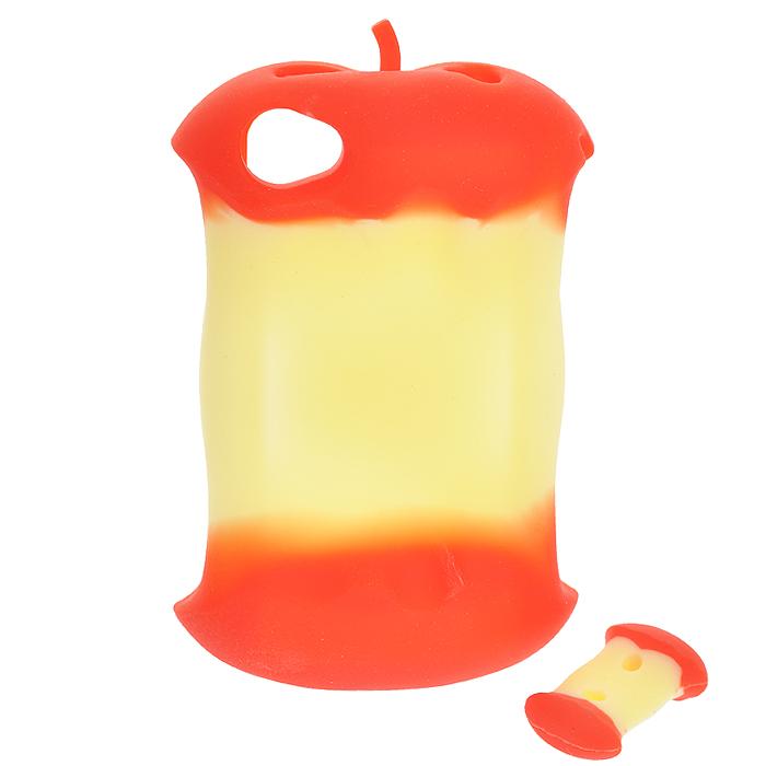 """Чехол для iPhone 4/4s """"Яблоко"""", цвет: красный, желтый"""