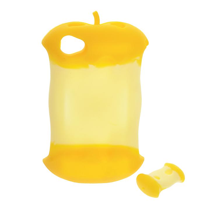 Чехол для iPhone 4/4s Яблоко, цвет: желтый4627078651734Чехол для iPhone 4/4s выполнен из силикона в виде желтого яблока.Чехол защитит телефон от пыли, грязи и царапин, а в случае падения предотвратит трещины и сколы. Имеет специальные прорези (для окошка камеры, разъема для наушников и зарядного шнура, для клавиш регулировки звука и кнопочки беззвучного режима). В комплект к чехлу прилагается регулятор длины наушников, также выполненный в виде яблока. Помещенный в чехол телефон удобнее держать в руках за счет специальной поверхности. Кроме того, чехол не только надежно защитит телефон от царапин и повреждений, но и превратит его в модный аксессуар, который подчеркнет ваш яркий образ! Характеристики:Материал: силикон. Цвет: желтый. Размер чехла: 8 см х 12,5 см х 2 см. Артикул: 4627078651734.