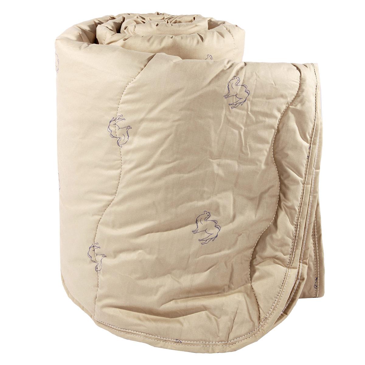 Одеяло Verossa, наполнитель: верблюжья шерсть, 172 х 205 см170583Одеяло Verossa представляет собой стеганый чехол из натурального хлопка с наполнителем из верблюжьей шерсти. Наполнитель обладает высокой гигроскопичностью, создавая эффект сухого тепла. Волокна верблюжьей шерсти полые внутри, образуют пласт, содержащий множество воздушных кармашков, которые равномерно сохраняют и распределяют тепло, обеспечивая естественную терморегуляцию в жару и холод. Верблюжья шерсть обладает рядом уникальных лечебных свойств, благодаря которым расширяются сосуды, усиливается микроциркуляция крови. Шерсть снимает статическое напряжение, благоприятно воздействует на опорно-двигательный аппарат. Одеяло, выстеганное оригинальным узором Барханы, украсит ваш дом и подарит наслаждение от отдыха.Одеяло упаковано в прозрачный пластиковый чехол на змейке с ручкой, что является чрезвычайно удобным при переноске. Характеристики:Материал чехла: перкаль (100% хлопок). Наполнитель: верблюжья шерсть. Масса наполнителя: 300 г/м2. Размер одеяла: 172 см х 205 см. Размер упаковки:60 см x 15 см x 45 см. Артикул: 170583.