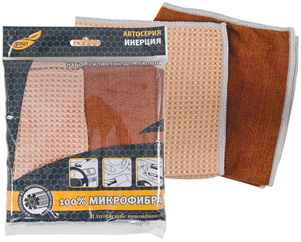 Набор автомобильных салфеток Инерция, цвет: кирпичный, бежевый, 300 х 300 мм, 2 штRC-100BWCНабор автомобильных салфеток Инерция прекрасно подойдут для ухода за кожаной отделкой интерьера автомобиля. А также для очистки приборной панели и других пластиковых деталей салона. Обладают антистатическими свойствами, деликатно очищают от пыли, отпечатков пальцев и прочих загрязнений. Характеристики: Материал: 100% микрофибра. Количество в упаковке: 2 штуки. Размер салфетки: 30 см х 30 см x 0,5 см. Размер упаковки: 21 см х 16,5 см х 1 см.
