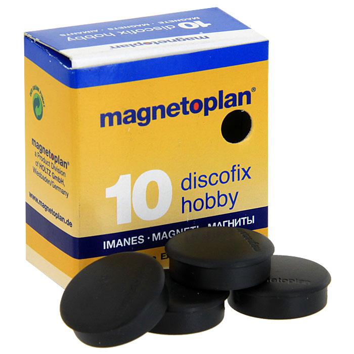 """Магниты Magnetoplan """"Hobby"""", оснащенные цельными ферритными стержнями, помогут не только надежно прикрепить листы бумаги на любой железной или стальной поверхности, но и расставить акценты, выделить важную информацию при проведении семинаров, мозговых штурмов или презентаций. В набор входят 10 магнитов. Сила притягивания магнитов - 0,3 кг . Магниты незаменимы при работе в офисе, они помогают организовать важную информацию и всегда держать ее под рукой."""
