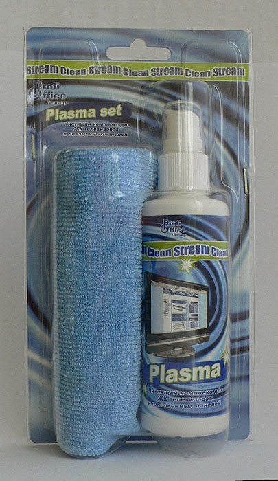 Набор для чистки экранов и LCD ProfiOffice Clean-Stream: Plasma, 100 мл