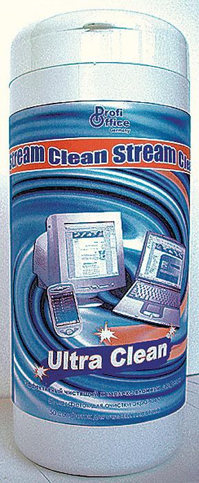 Влажные чистящие салфетки ProfiOffice Clean-Stream, для экранов и мониторов, 100 штBU-ZSURFACEЧистящий комплекс Ultra Clean предназначен для удаления грязи с экранов ЖК- мониторов, оптических поверхностей, сканеров, копиров, телевизоров, а также для очистки корпусов мониторов, клавиатур и других пластиковых поверхностей техники. Салфетки обладают антистатическим, дезинфицирующим и антибактериальным эффектом.В пластиковой тубе размещаются:50 салфеток (синего цвета) предназначенных для очистки пластиковых поверхностей мониторов, клавиатур, мыши и рабочей поверхности стола.50 салфеток (белого цвета) предназначены для деликатной очистки экранов мониторов. Характеристики: Размер тубы: 8 см х 8 см х 19 см. Количество салфеток: 100 шт. Изготовитель: Россия. Артикул: 19826.