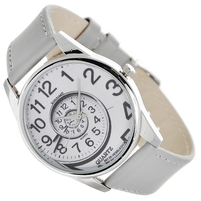Часы Mitya Veselkov Спираль времени (серый). Color-15