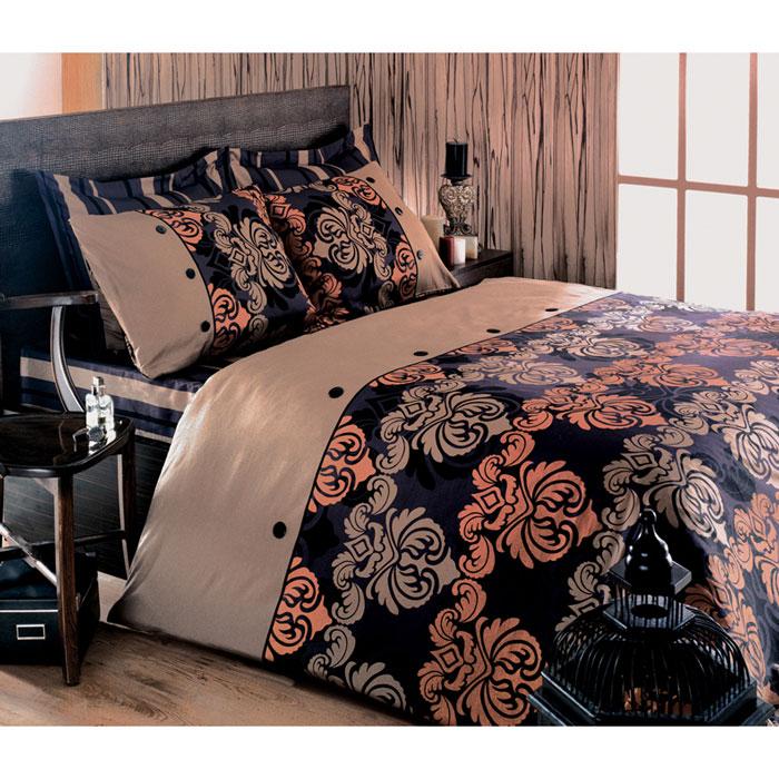 Комплект белья Tete-a-tete Дюбарри (1,5 спальный КПБ, сатин премиум, наволочки 70х70), цвет: бежевый. Т-0037-01391602Комплект постельного белья Дюбарри является экологически безопасным для всей семьи, так как выполнен из натурального хлопка. Комплект состоит из пододеяльника, простыни и двух наволочек. Постельное белье оформлено оригинальным рисунком и имеет изысканный внешний вид. Все предметы комплекта цельнокроеные. Вас поразит необыкновенная тонкость, почти воздушная легкость и невероятная шелковистость этой специальной ткани, которая еще усилится после стирки. Ненавязчивые цвета хорошо примут наложение любого другого оттенка, при любом освещении. Ваша постель будет выглядеть безупречно. Наволочки имеют клапан без пуговиц и молнии.Пододеяльникимеет молнию на нижнем конце. Молния имеет фиксаторы, не позволяющие расстегиваться ей до самого конца, а сама она очень прочная и состоит из одной эргономичной детали, что не позволит ей сломаться легко.Сатин - производится из высших сортов хлопка, а своим блеском, легкостью и на ощупь напоминает шелк. Такая ткань рассчитана на 200 стирок и более. Постельное белье из сатина превращает жаркие летние ночи в прохладные и освежающие, а холодные зимние - в теплые и согревающие. Благодаря натуральному хлопку, комплект постельного белья из сатина приобретает способность пропускать воздух, давая возможность телу дышать. Одно из преимуществ материала в том, что он практически не мнется и ваша спальня всегда будет аккуратной и нарядной. Рекомендации по уходу:стирать изделия, вывернув их наизнанку (особенно это касаетсяизделий с фурнитурой), при температуре до 30°С, c использованием современных высокотехнологичных порошков, щадящими отбеливателями без хлора, мягкими кондиционерами, смягчителями для воды, если она у вас жесткая, щадящим режимом отжима и сушки, без химчистки. Характеристики: Материал: премиум-сатин (100% хлопок). Плотность: 155 г/м2. Размер упаковки: 34 см х 7 см х 53 см. В комплект входят: Пододеяльник - 1 шт. Размер: