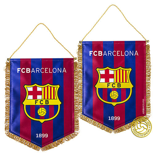 Вымпел FC Barcelona, 30 см х 22 см. 158251158250Вымпел с эмблемой футбольного клуба Barcelona.Двусторонний мягкий вымпел на металлическом стержне с металлическими наконечниками. С двух сторон вымпела изображен логотип ФК Barcelona. Материал: полиэстер. Размер вымпела: 30 см х 22 см. Размер упаковки: 30 см х 25 см х 1 см.