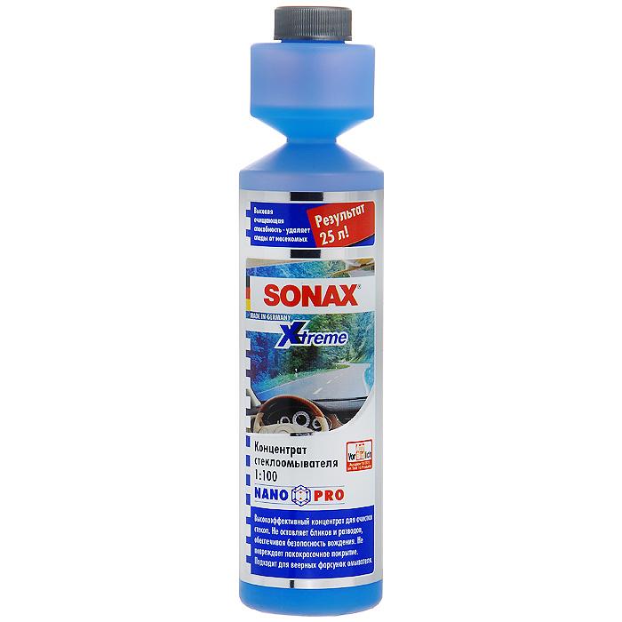 Стеклоомыватель Sonax NanoPro, концентрат 1:100, 250 млFS-80423Концентрированный стеклоомыватель Sonax NanoPro применяется в летний период. Мгновенно удаляет масленый налет, копоть, силикон, следы от насекомых и другие загрязнения. Стеклоомыватель безопасен для резины, пластика и фар. Может смешиваться с водой любой жесткости. Для обеспечения безопасности содержит горькую добавку.Инструкция по применению:25 мл достаточно для приготовления 2,5 л готового стеклоомывателя;содержимое бутылки достаточно для приготовления 25 л готового стеклоомывателя;беречь от воздействия минусовых температур. Характеристики:Состав: 15-30% анионогенные ПАВ, краситель, отдушка, кумарин, гексил циннамал, лимонен, метилизотиазолинон, бензизотиазолион. Объем: 250 мл. Артикул: 271141.