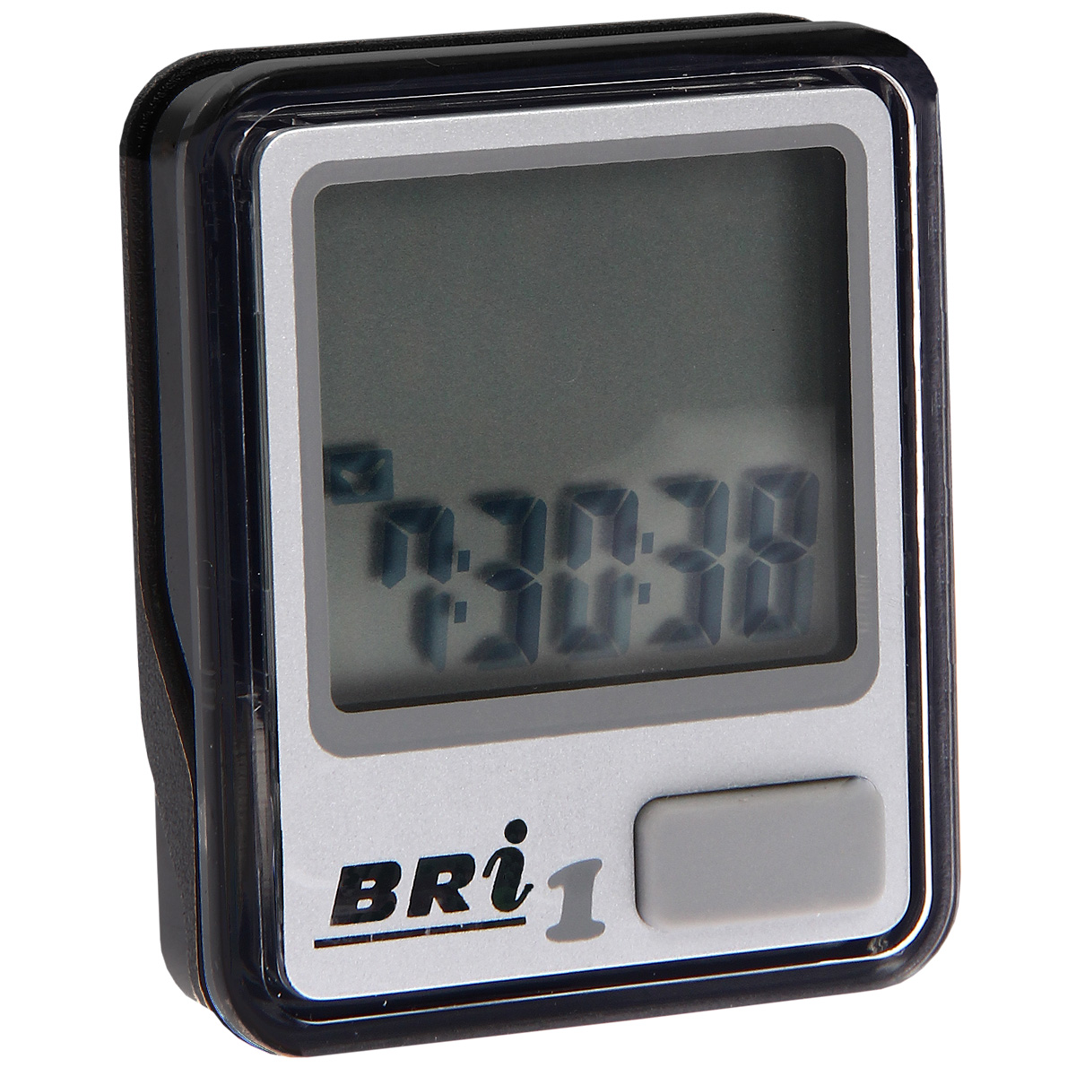 Велокомпьютер BRi-1, 5 функций, цвет: серебряный30238Велокомпьютер BRi-1 - это удобный и простой в использовании электронный прибор, предоставляющий велосипедисту всю необходимую информацию о поездке. Велокомпьютер состоит из двух частей соединенных проводом - дисплея, внешне похожего на электронные часы и датчика скорости. Дисплей крепится на руле с возможностью мгновенно отсоединить его, когда нет желания оставлять на велосипеде без присмотра или под дождем. Магнитный датчик скорости (геркон) крепится рядом с колесом. Принцип работы велокомпьютера довольно прост - программа за минуту настраивается на размер колеса велосипеда и начинает во время поездки считать за какое время колесо совершило полный оборот. Зная эти два параметра процессор может мгновенно высчитывать и выдавать на дисплей все требуемые параметры поездки. Характеристики:Материал: пластик, металл. Размер велокомпьютера: 3,7 см х 4,6 см х 1,5 см. Размер монитора: 2,7 см х 2,4 см. Размер упаковки: 7,2 см х 11,5 см х 6,3 см. Производитель: Китай.