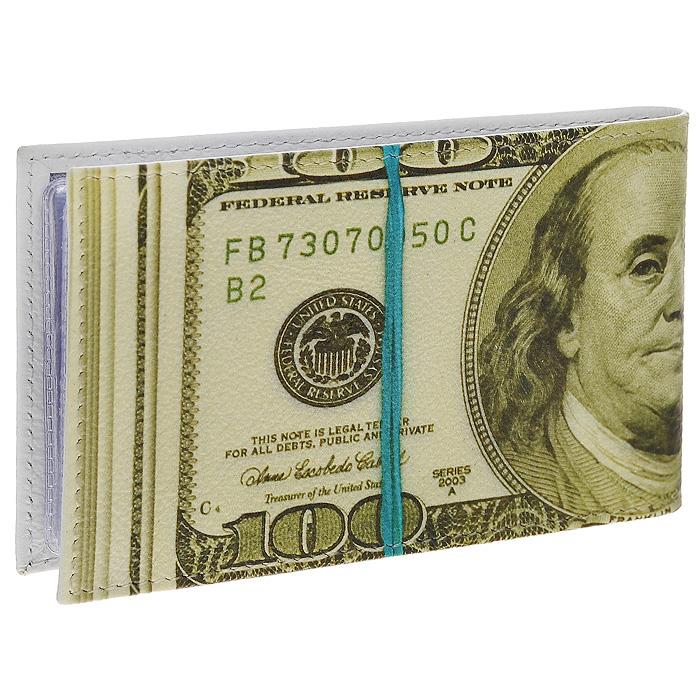 Визитница горизонтальная Perfecto 100$. GVZ-PR-00023607869410673Стильная горизонтальная визитница выполнена из натуральной кожи в виде пачки купюр в 100 долларов. Внутри содержится блок из прозрачного пластика на 36 визиток. Визитница 100$ - это не только практичная вещь для хранения пластиковых карт, но и модный аксессуар, который подчеркнет ваш неповторимый стиль. Характеристики:Материал: натуральная кожа, пластик. Размер визитницы: 11 см х 1 см х 6,7 см. Размер упаковки: 12 см х 1 см х 9 см. Артикул: GVZ-PR-0002.