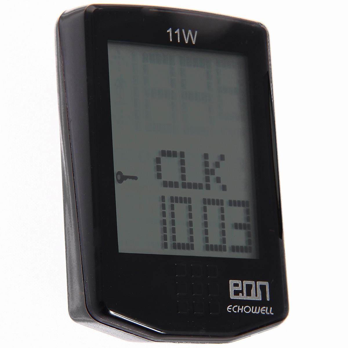 Велокомпьютер Eon-11W, 11 функций, цвет: черный4712593200564Беспроводной велокомпьютер Eon-11W с одиннадцатью функциями в стильном корпусе предназначен для использования при занятиях велоспортом, велотуризмом и просто катании на велосипеде. Имеет отличную водо и пылезащиту. Все операции инастройки выполняются одной сенсорной кнопкой Велокомпьютер определяет скоростьс точностью до десятых долей, дистанцию - с точностью до 10 метров. Расстояние может измеряться в километрах или милях по выбору. На дисплее функции поочередно сменяют друг друга. Язык - английский. Прилагается инструкция на русском и английском языках. Характеристики:Материал: пластик, металл. Размер велокомпьютера: 3 см x 5 см x 1,5 см. Размер упаковки: 12 см x 7 см x 5 см. Изготовитель: Китай.