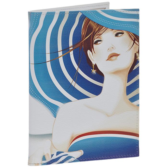 Обложка для автодокументов Perfecto Lady in Blue. VD-GL-45CA-3505Обложка для автодокументов Lady in Blue выполнена из натуральной кожи и оформлена изображением девушки в голубой шляпе с широкими полями. Внутри содержится съемный блок из шести прозрачных файлов из мягкого пластика и четыре кармашка для пластиковых карт.Обложка для автодокументов не только поможет сохранить внешний вид ваших документов и защитит их от повреждений, но и станет стильным аксессуаром, идеально подходящим вашему образу. Характеристики:Материал: натуральная кожа, пластик. Размер обложки: 9,5 см х 13,2 см. Размер упаковки: 11 см х 1 см х 14 см. Артикул: VD-GL-45.