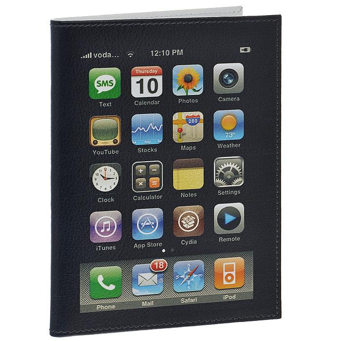 Обложка для паспорта Perfecto iPhone. PS-PR-00493301-001 V/BlackСтильная обложка для паспорта выполнена из натуральной кожи черного цвета в виде айфона. На внутреннем развороте - два кармашка из прозрачного пластика. Обложка не только поможет сохранить внешний вид ваших документов и защитит их от повреждений, но и станет стильным аксессуаром, который подчеркнет ваш неповторимый стиль. Характеристики:Материал: натуральная кожа, пластик. Цвет: черный. Размер обложки: 9,5 см х 13,7 см. Размер упаковки: 11 см х 14,5 см х 1 см. Артикул: PS-PR-0049.