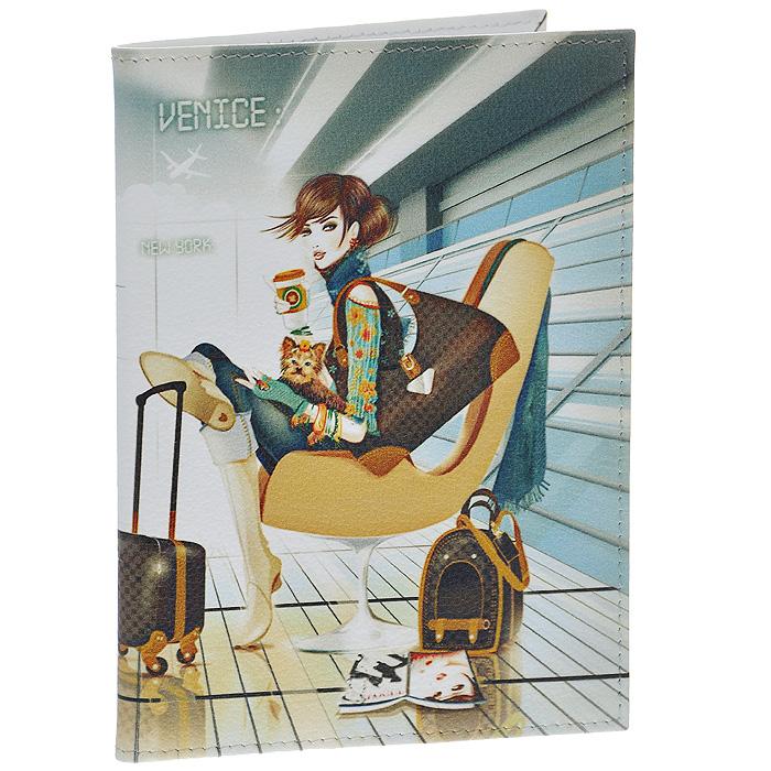 Обложка для паспорта Perfecto Airport. PS-GL-0038BM8434-58AEСтильная обложка Airport выполнена из натуральной кожи и оформлена изображением девушки, ожидающей своего рейса в аэропорту. На внутреннем развороте - два кармашка из прозрачного пластика. Обложка не только поможет сохранить внешний вид ваших документов и защитит их от повреждений, но и станет стильным аксессуаром, который подчеркнет ваш неповторимый стиль. Характеристики:Материал: натуральная кожа, пластик. Размер обложки: 9,5 см х 13,7 см. Размер упаковки: 11 см х 14,5 см х 1 см. Артикул: PS-GL-0038.