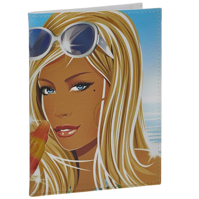 Обложка для паспорта Perfecto Summer. PS-GL-0043OZAM416Стильная обложка Summer выполнена из натуральной кожи и оформлена изображением девушки с мороженым. На внутреннем развороте - два кармашка из прозрачного пластика. Обложка не только поможет сохранить внешний вид ваших документов и защитит их от повреждений, но и станет стильным аксессуаром, который подчеркнет ваш неповторимый стиль. Характеристики:Материал: натуральная кожа, пластик. Размер обложки: 9,5 см х 13,7 см. Размер упаковки: 11 см х 14,5 см х 1 см. Артикул: PS-GL-0043.