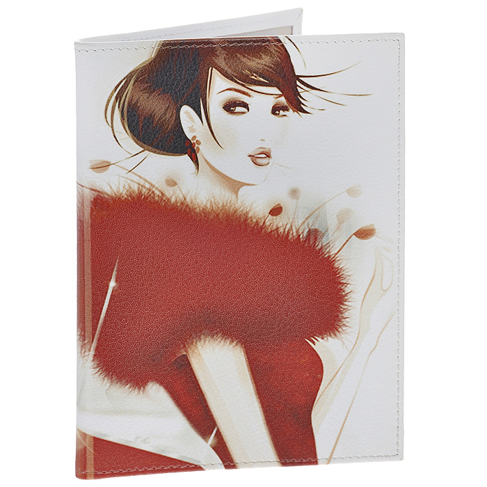Обложка для паспорта Perfecto Lady in Red. PS-GL-0027OK021Стильная обложка Lady in Red выполнена из натуральной кожи и оформлена изображением девушки в красном. На внутреннем развороте - два кармашка из прозрачного пластика. Обложка не только поможет сохранить внешний вид ваших документов и защитит их от повреждений, но и станет стильным аксессуаром, который подчеркнет ваш неповторимый стиль. Характеристики:Материал: натуральная кожа, пластик. Размер обложки: 9,5 см х 13,7 см. Размер упаковки: 11 см х 14,5 см х 1 см. Артикул: PS-GL-0027.