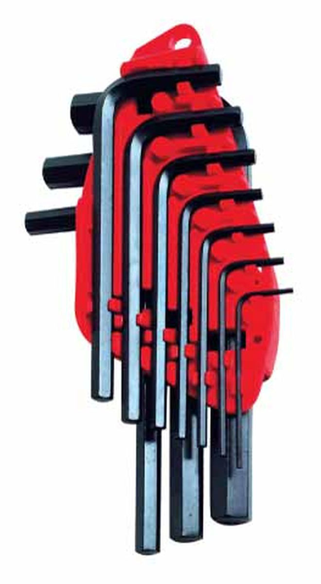 Набор шестигранных ключей Stanley, 1,5-10 мм, 10 шт16651-20-H5Набор из шестигранных ключей Stanley предназначены для работ с винтами, оснащенными внутренним шестигранным гнездом метрических размеров. В набор входят 10 ключей разных размеров. Набор шестигранных ключей Stanley - незаменимый предмет в Вашем хозяйстве. Характеристики: Материал: пластик, металл. Размеры ключей: 1,5 мм, 2 мм, 2,5 мм, 3 мм, 4 мм, 5 мм, 5,5 мм , 6 мм, 8 мм, 10 мм. Размеры упаковки: 21 см х 10 см х 2,5 см.