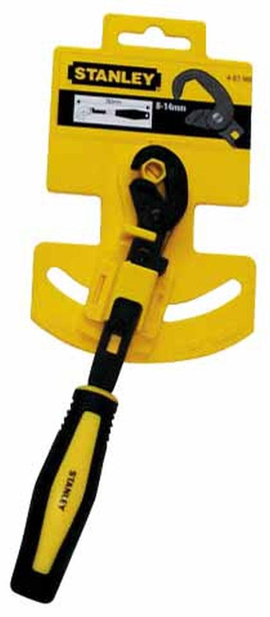 Быстрозажимной гаечный ключ Stanley, 17-24 мм2706 (ПО)Быстрозажимной гаечный ключ Stanley - это ключ с эффектом храповика с быстрой регулировкой. Самонастраивающаяся конструкция устраняет необходимость снимать ключ с крепежного элемента при его вращении. Выпуклый профиль губок предотвращает повреждение гайки. Характеристики: Материал: пластик, металл, резина. Длина ключа: 27 см. Диаметр гаек: 17-24 мм. Размеры упаковки:33 см х 12 см х 3 см.