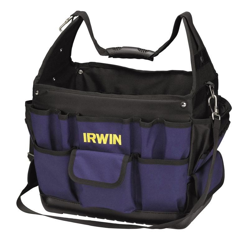 Сумка Irwin Pro, 40 х 25 х 35 см2706 (ПО)Сумка-органайзер для инструмента Irwin Pro служит для хранения и транспортировки. Изготовлена из высококачественного материала и отличается хорошими прочностными характеристиками. Имеет множество внутренних и наружных карманов, где можно разместить все необходимые инструменты и аксессуары. Сумку легко переносить с помощью удобной ручки или плечевого ремня. Имеет 30 внешних карманов различного размера и применения и 20 внутренних карманов. Характеристики:Материал: полиэстер, металл. Размер сумки: 400 мм х 250 мм х 350 мм. Размер упаковки: 40 см х 25 см х 35 см.