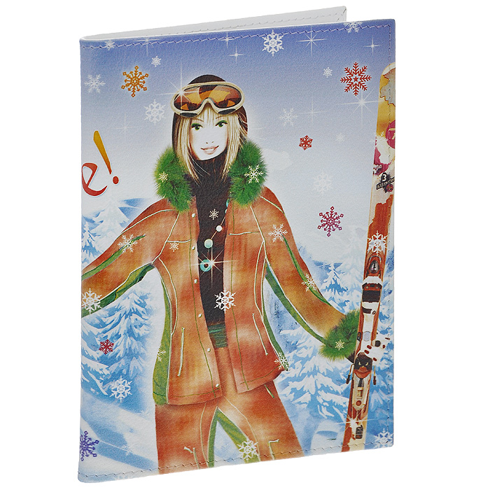 Обложка для паспорта Perfecto Ski. PS-GL-00371-022_516Стильная обложка Ski, выполненная из натуральной кожи, оформлена изображением лыжницы и надписью: Snow! Life! Love!. На внутреннем развороте - два кармашка из прозрачного пластика. Обложка не только поможет сохранить внешний вид ваших документов и защитит их от повреждений, но и станет стильным аксессуаром, который подчеркнет ваш неповторимый стиль. Характеристики:Материал: натуральная кожа, пластик. Размер обложки: 9,5 см х 13,7 см. Размер упаковки: 11 см х 14,5 см х 1 см. Артикул: PS-GL-0037.