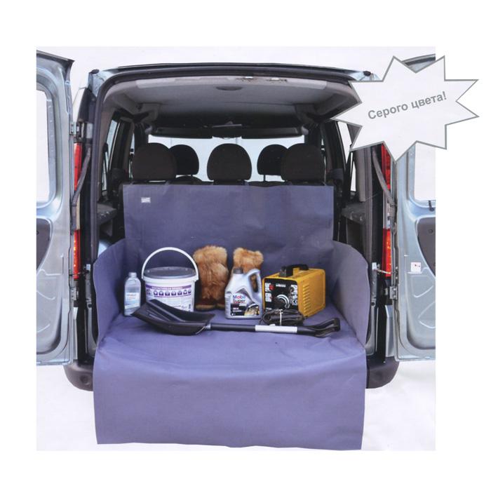 Накидка защитная в багажник автомобиля Comfort Address, цвет: серый, 120 х 150 х 70 см daf 0221 S80-2633Накидка Comfort Address выполнена из прочного водоотталкивающего материала и предназначена для перевозки различных грузов в багажнике автомобиля. Накидка защищает дно, боковые стенки багажника и спинки задних сидений от грязи и повреждений. Дополнительная накидка защитит бампер от царапин во время загрузки. Накидка быстро и легко одевается, не мешает откидыванию задних сидений. Подходит для любых типов и размеров багажников. Характеристики: Материал: ПВХ. Цвет: серый. Ширина: 120 см. Глубина: 100 см. Высота фронтального борта: 70 см. Высота боковых бортов: 40 см. Защита на бампер: 120 см х 50 см. Размер упаковки: 33 см х 42 см х 5 см. Артикул: daf 0221 S.