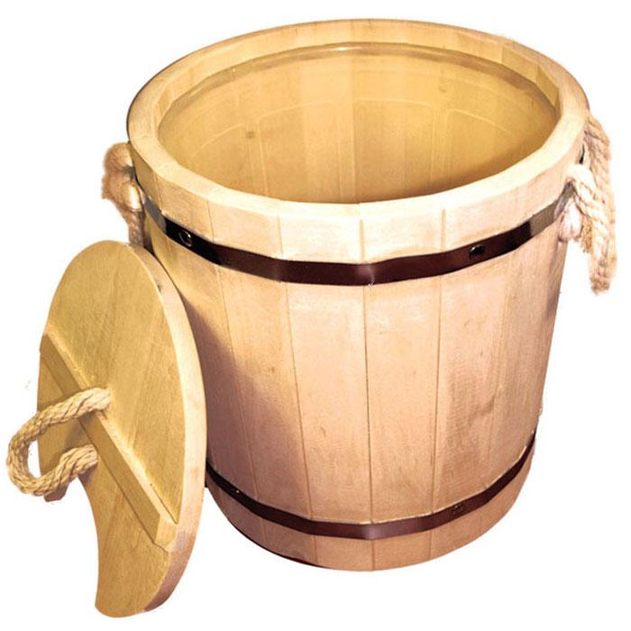 Запарник Банные штучки, с крышкой, 12 л790009Запарник Банные штучки выполнен из брусков липы стянутых двумя металлическими обручами, внутри предусмотрена пластиковая вставка, позволяющая избежать протекания жидкости. Для более удобного использования запарник имеет по бокам две небольшие веревочные ручки, а также деревянную крышку. Такой запарник доставит вам настоящее удовольствие от банной процедуры. При запаривании веник обретает свою природную силу и сохраняет полезные свойства.Интересная штука - баня. Место, где одинаково хорошо и в компании, и в одиночестве. Перекресток, казалось бы, разных направлений - общение и здоровье. Приятное и полезное. И всегда в позитиве Характеристики:Материал: натуральное дерево, металл, пластмасса, текстиль. Объем: 12 л. Диаметр запарника по верхнему краю: 31 см. Высота стенок: 32,5 см. Артикул: 03709.