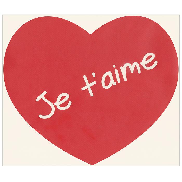 Стикер Paristic Я тебя люблю, цвет: красный, 34 см х 30 см стикер paristic канделябр валь д он 61 х 253 см
