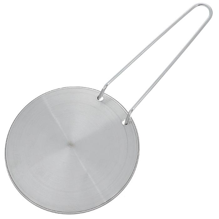 Диск Frabosk для индукционных плит, диаметр 14 см099.01Стальной диск Frabosk позволит готовить на индукционной плите в любимой посуде и не расставаться с ней. Пользоваться им легко: нужно просто поставить индукционный диск на плиту и можно начинать готовить в обычной посуде, не предназначенной для индукционных поверхностей.ИНСТРУКЦИЯ ПО ЭКСПЛУАТАЦИИ ИНДУКЦИОННОГО ДИСКА (СМОТРИ НА ОБОРОТЕ) 1.Посуда, которая ставится на диск, должна иметь такой же или больший диаметра и абсолютно ровное дно. Использованиепосуды слишком маленького диаметра по отношению к диску может привести к образованию пятен на варочной поверхности (что особенно актуально для экономичных моделей). 2. Нет необходимости выставлять слишком высокую температуру на варочной панели, т.к. индукционный диск обладает высокой теплопроводностью, на средней температуре достигается отличный результат, при этом экономится электроэнергия. 3. Настоятельно рекомендуем не ставить пустую посуду на плиту. В целях экономии электроэнергии выключайте варочную панель за 15-20 секунд до окончания приготовления блюда. Характеристики:Материал:нержавеющая сталь. Диаметр диска:14 см. Толщина диска:3 мм.Артикул:099.01.