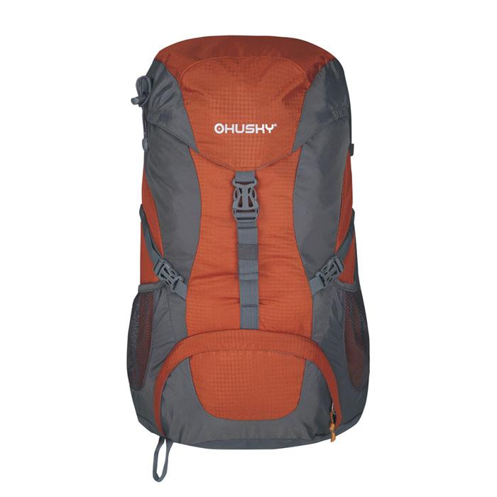 Рюкзак туристический Husky Skelly 33, цвет: оранжевыйУТ-000055323Рюкзак туристический Husky Skelly 33 имеет систему вентиляции спины и утолщенные дышащие эргономичные плечевые лямки. Состоит рюкзак из большого отделения и боковыми карманами. Отделение закрывается на застежки-молнии. Также рюкзак имеет нагрудный и поясной ремни, держатель для гидратора, держатели для треккинговых палок и другой экипировки, накидку от дождя. Оснащен светоотражающими элементами. Характеристики:Размер рюкзака: 53 см х 32 см х 20 см. Объем рюкзака: 33 л. Материал: Полиэстер 420D Ripstop W/P. Вес: 1090 г. Цвет: оранжевый. Производитель: Чехия. Изготовитель: Китай. Артикул: УТ-000055323.