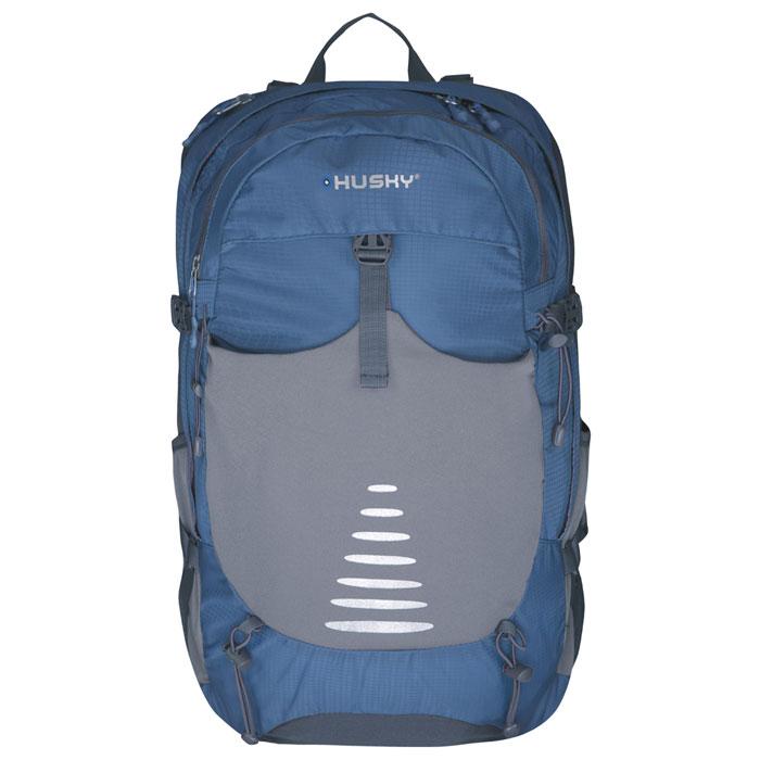 Рюкзак туристический Husky Skid 30, цвет: синийУТ-000055332Рюкзак туристический Husky Skid 30 имеет систему вентиляции спины и утолщенные дышащие эргономичные плечевые лямки. Состоит рюкзак из большого отделения и боковыми карманами. Отделение закрывается на застежки-молнии. Также рюкзак имеет нагрудный и поясной ремни, держатель для гидратора, держатели для треккинговых палок и другой экипировки, накидку от дождя. Оснащен светоотражающими элементами. Характеристики:Размер рюкзака: 54 см х 30 см х 18 см. Объем рюкзака: 30 л. Материал: нейлон 250Т Ripstop Dobby W/P. Вес: 1090 г. Цвет: зеленый. Производитель: Чехия. Изготовитель: Китай. Артикул: УТ-000055333.