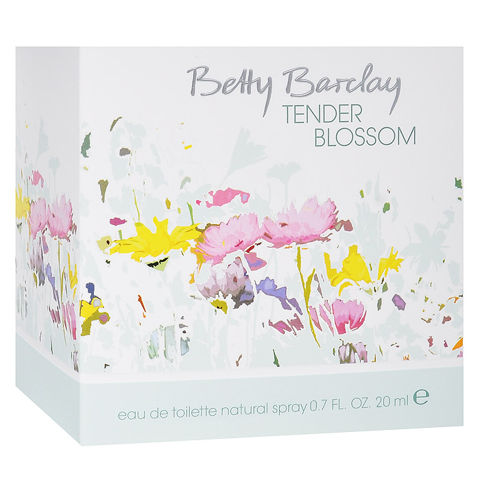 Betty Barclay Tender Blossom. Туалетная вода, 20 мл1301210Цветы создают особые взаимоотношения между людьми, дарят прекрасное романтическое настроение и наполняют радостью жизни.Верхняя нота: Душистый горошек, личи, дыняСредняя нота: Магнолия, пион, фрезия