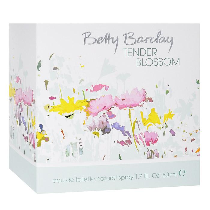 Betty Barclay Tender Blossom. Туалетная вода, 50 млGESS-014Цветы создают особые взаимоотношения между людьми, дарят прекрасное романтическое настроение и наполняют радостью жизни.Верхняя нота: Душистый горошек, личи, дыняСредняя нота: Магнолия, пион, фрезия