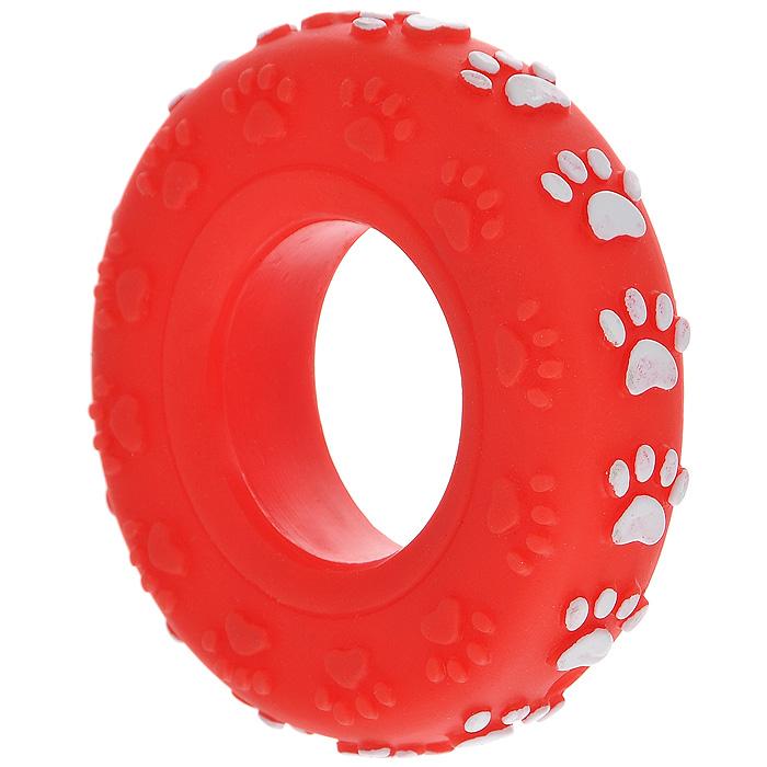 Игрушка для собак Ziver Покрышка, с пищалкой, цвет: красный, диаметр 8 см0120710Игрушка для собак Ziver Покрышка изготовлена из винила и латекса с использованием только безопасных, не токсичных красителей. Покрышка при надавливании или захвате пастью пищит. Привлечет внимание вашего любимца, позволит весело провести ему время, не навредит здоровью, а также поможет вам сохранить в целости личные вещи и предметы интерьера.Диаметр: 8 см.