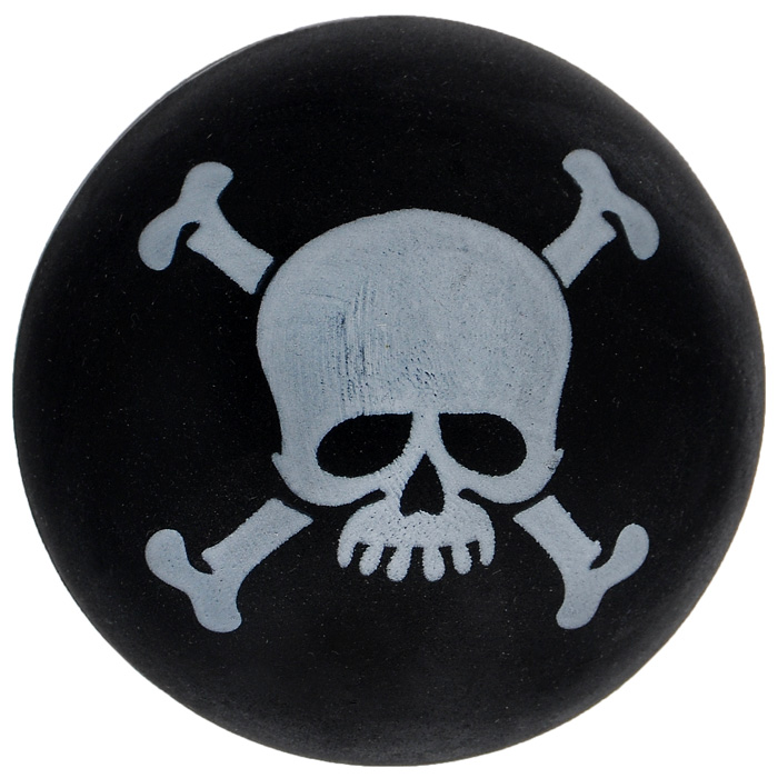 Игрушка для собак Ziver Мяч Пират, с пищалкой, цвет: черный, диаметр 7 см40.ZV.053Игрушка для собак Ziver Мяч Пират изготовлена из винила и латекса с использованием только безопасных, не токсичных красителей. Мяч черного цвета оформлен черепом и костями. Игрушка при надавливании или захвате пастью пищит. Привлечет внимание вашего любимца, позволит весело провести ему время, не навредит здоровью, а также поможет вам сохранить в целости личные вещи и предметы интерьера.Диаметр мяча: 7 см.