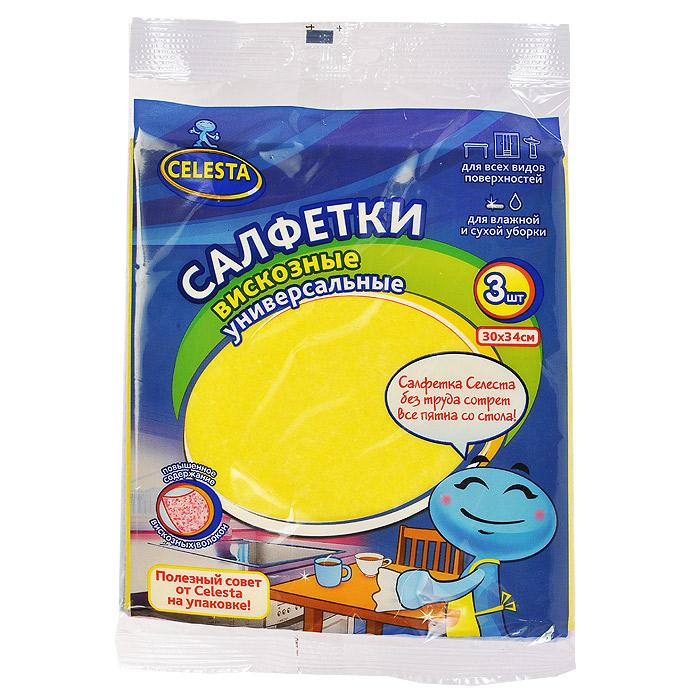 Набор универсальных салфеток Celesta Safari, цвет: розовый, синий, желтый, 3 штCLP446Набор Celesta Safari состоит из трех высококачественных салфеток, предназначенных для влажной и сухой уборки. Они качественно очищают деревянные, пластиковые, стеклянные поверхности, также сантехнику и кафель. Благодаря большому содержанию вискозы в составе волокон, легко впитывает влагу и отлично отжимается. Не оставляет ворсинок и разводов, отлично поглощают пыль и грязь. Характеристики: Материал: вискоза, полиэстер, полипропилен. Размер: 30 см х 34 см. Размер упаковки: 16 см х 18 см х 2 см. Артикул: 61232.