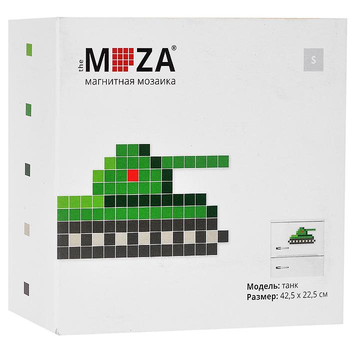 """Магнитная мозаика Moza """"Танк"""" состоит из 103 маленьких разноцветных квадратных магнитов. Собрать мозаику довольно просто: в комплекте прилагается инструкция со схемой. Собрать изображение можно на любой магнитной поверхности, например, на холодильнике. Кроме того, из предложенных в наборе деталей можно собрать не только танк, но и другие фигурки, например, ракету. Главное - фантазия. Такая мозаика понравится как взрослым, так и детям. Порадуйте своих близких оригинальным и красочным изображением на холодильнике."""