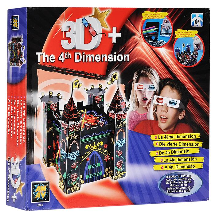 """Набор для творчества """"3D замок"""" позволит вашему ребенку создать свой неповторимый замок, проявив всю свою смекалку и творческие способности. В комплект набора входят: три пары 3D-очков, бархатная бумага, маркеры, клей, клей с блестками, стразы и инструкция. Необычный сувенир, созданный своими руками станет чудесным украшением интерьера детской комнаты или послужит прекрасным подарком друзьям и близким людям!"""