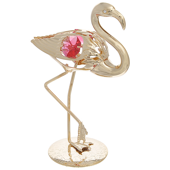 Фигурка декоративная Фламинго, цвет: золотистый. 692722a030071Декоративная фигурка Фламинго, золотистого цвета, станет необычным аксессуаром для вашего интерьера и создаст незабываемую атмосферу. Фигурка в виде грациозного фламинго инкрустирована красными кристаллами. Кристаллы, украшающие фигурку, носят громкое имяSwarovski. Ограненные, как бриллианты, кристаллы блистают сотнями тысяч различных оттенков.Эта очаровательная фигурка послужит отличным функциональным подарком, а также подарит приятные мгновения и окунет вас в лучшие воспоминания.Фигурка упакована в подарочную коробку. Характеристики:Материал: металл, австрийские кристаллы. Размер фигурки: 7 см х 10,5 см х 4 см. Цвет: золотистый. Размер упаковки: 6,5 см х 11 см х 6,5 см. Артикул: 692722.