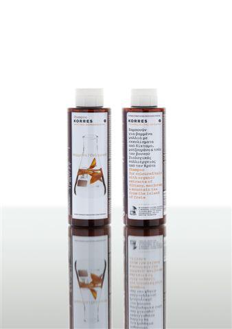 Korres Шампунь для окрашенных волос, с подсолнухом и гаультерией, 250 млFS-0089797,7% натуральных ингредиентов. Богатое органическими растительными экстрактами средство (на водной основе) деликатно удаляет макияж с глаз, в том числе и водостойкую тушь. Комфортно при использовании. Без эффекта липкости, жирности, блеска. Не вызывая раздражения, подходит для чувствительной кожи и тем, кто носит контактные линзы. Прошло офтальмологические тесты. Не содержит ароматические отдушки.УНИКАЛЬНАЯ ФОРМУЛА, СОСТАВЛЯЮЩАЯ ОСНОВУ. СРЕДСТВ ПО УХОДУ ЗА ВОЛОСАМИ: 1) Комплекс PURE360 основан на синергичном действии двух 100% натуральных комплексных систем Hairspa и Plantasil Micro. Hairspa - биосистема полисахаридов: - Увлажняет кожу головы и волосы; - Способствует восстановлению волос; - Нормализует баланс экосистемы волос, обеспечивая защиту от перхоти; Plantasil Micro - смягчающее вещество: - Обеспечивает распутывание и легкость расчесывания; - Улучшает общий внешний вид волос (придает объем, блеск, эластичность, предотвращение появления мелких завитков). 2) Витамины группы B играют важную роль в восстановлении и поддержании здоровья волос и кожи головы: * Витамин B3 предотвращает появление преждевременной седины. С его участием образуется пигмент в волосах; * Провитамин B5 проникает в стержень волоса, обволакивая его эластичной пленкой внутри и снаружи, это способствует гибкости и эластичности внутри волоса и придает блеск снаружи; обеспечивает увлажнение кожи головы и волоса; 3) Растения - эндемики о.Крит: Горный чай, Ясенец, Душица (эндемики - растения, обитающие в пределах ограниченного пространства, изолированного географически или экологически от других местообитаний (глубокие озёра, горы, острова); - Оказывают комплексное противовоспалительное, антисептическое, антиоксидантное действие; - Обеспечивают защиту кожи головы и волос от вредного воздействия окружающей среды; - Способствуют уменьшению потери волос; Небольшое количество шампуня нанести массажными движениями на влажн