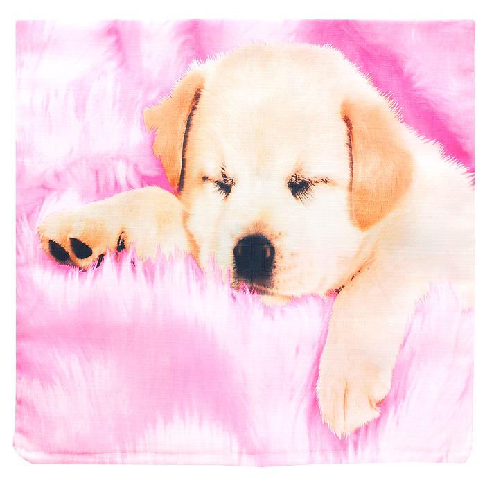 Наволочка декоративная Щенок, 40 см х 40 смНДЩДекоративная наволочка Щенок, выполненная из полиэстера, гармонично впишется в интерьер вашего дома и создаст атмосферу уюта и комфорта. Наволочка оформлена изображением милого щенка на розовом фоне. Наволочка застегивается на застежку-молнию. Характеристики:Материал: 100% полиэстер. Размер:40 см х 40 см. Размер упаковки:22 см х 16 см х 2 см. Артикул:НДЩ.