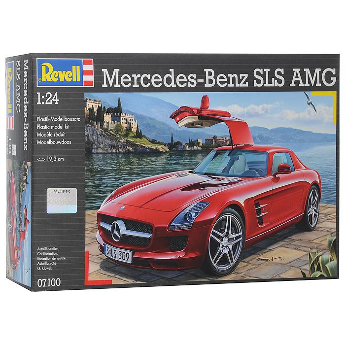 """Сборная модель """"Mercedes-Benz SLS AMG"""" позволит вам и вашему ребенку собрать уменьшенную копию одноименного немецкого автомобиля. Mercedes-Benz SLS AMG — суперкар, преемник Mercedes-Benz SLR McLaren и идеологический наследник Mercedes-Benz 300SL. Мировая премьера состоялась в 2009 году на франкфуртском автосалоне. Комплект включает в себя 141 пластиковый элемент для сборки модели и схематичную инструкцию. Шины для модели выполнены из настоящей резины. Хромированные элементы покрашены, остальные - нет. Процесс сборки развивает интеллектуальные способности, воображение и конструктивное мышление, а также прививает практические навыки работы со схемами и чертежами."""